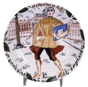 """Commissar"" A Plate with the inscription: ""Uritsky Square """
