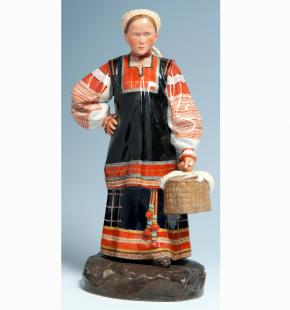 Tula Woman. Statuette. Peoples of Russia Series