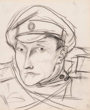Head of a Soldier in a Peaked Cap