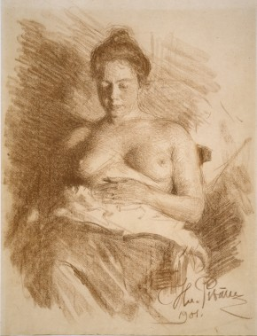Semi-Nude (Portrait of Natalia Nordman)