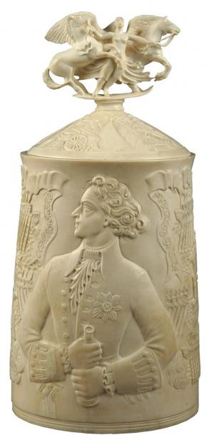 """Peter the Great - the Founder of the Russian Fleet"". A cup"