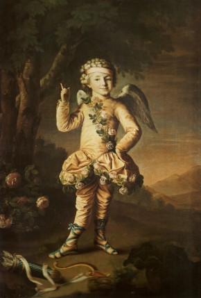 Portrait of the Serf Actor Ivan Yakimov Dressed as Cupid