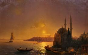 A View of Constantinople by Moonlight