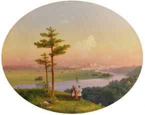 A View onto Moscow from the Sparrow Hills