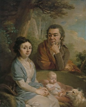 A Family Portrait. (Vasily Nebolsin, his Wife Avdotia, née Muromtseva, and Child?)