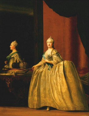 Portrait of Catherine II before a Mirror