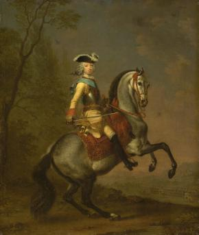 Portrait of the Grand Duke Peter Fyodorovich on a Horse