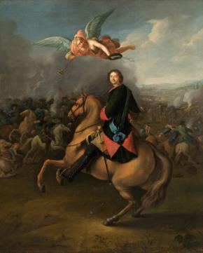 Peter I at the Battle of Poltava