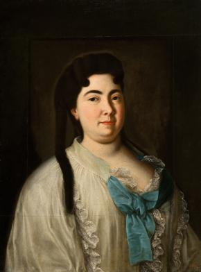 Portrait of Catherine I in a Peignoir