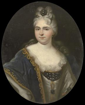 Portrait of Tsarevna Natalia Alexeyevna, Sister of Peter I