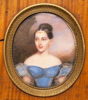 Portrait of Grand Duchess Maria Nikolaevna (1819-1876), daughter of Emperor Nicolas I