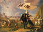 Equestrian Portrait of the Empress Elizabeth Petrovna with Retinue