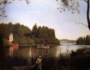 A View of Lake Moldino at Nikolai Milyukov's Ostrovki Estate