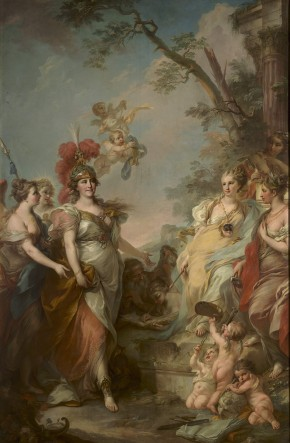 Catherine II as Minerva, Patroness of the Arts