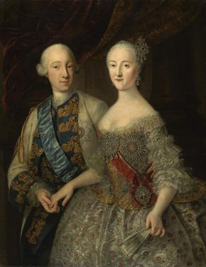 Portrait of Grand Duke Peter Fyodorovich and Grand Duchess Catherine Alexeyevna