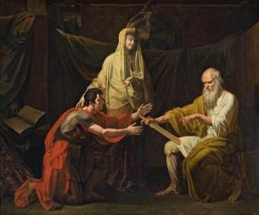 Martha the Mayoress (Theodosious Boretsky the Hermit Awarding the Sword of Ratmir to Miroslav, Young Chieftain of the Novgorodians and Fiancé of Xenia, Daughter of Mayoress Marfa of Novgorod)