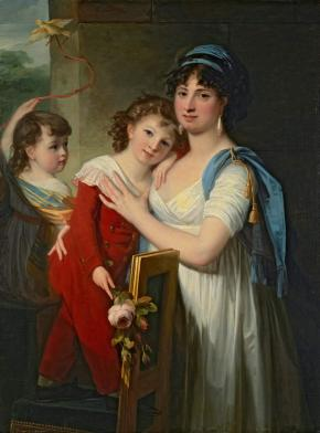 Portrait of Anna Muravyova-Apostol with her Son Mathew and her Daughter Catherine