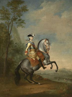Equestrian Portrait of the Grand Duke Peter Fyodorovich