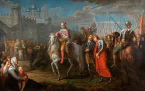 Alexander Nevsky's Ceremonial Entry into the Town of Pskov after his Victory over the Germans