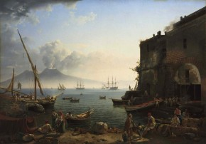 View of Naples. Santa Lucia Waterfront
