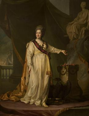 Portrait of Catherine II the Legislatress in the Temple of the Goddess of Justice