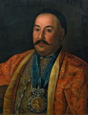 Portrait of Brigadier Fyodor Krasnoschekov, Ataman of the Don Cossachs