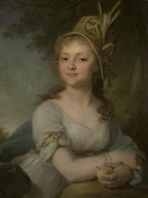 Portrait of Ekaterina Arsenieva, Pupil at the Smolny Finishing School