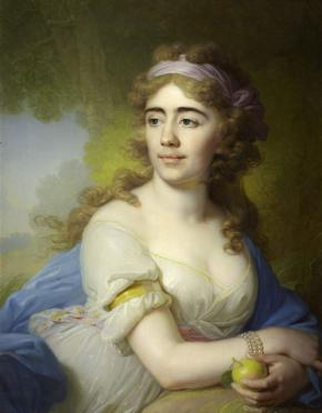 Portrait of Skobeyeva, Wife of the Smolensk Landlord D. Skobeyev