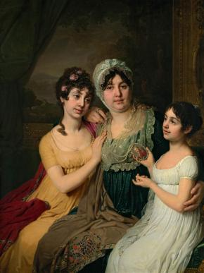 Portrait of Countess Anna Bezborodko and her Daughters Lyubov and Cleopatra