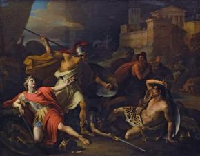 Socrates Defending Alcibiades at the Battle ot Potidæa