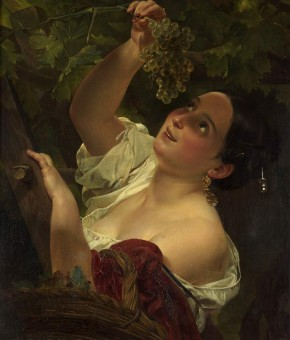 Italian Midday (Italian Girl Picking Grapes)
