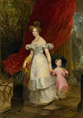 Portrait of Grand Duchess Elena Pavlovna, née Princess Friederike Charlotte of Württemberg, Wife of Grand Duke Mikhail Pavlovich, with her Daughter Grand Duchess Maria Mikhailovna