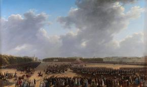 Parade Celebrating the End of Millitary Action in the Kingdom of Poland on Tsaritsa Meadow in St Petersburg on 6 October 1831