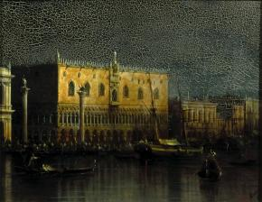 Doge's Palace in Venice by Moonlight