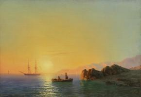 Sunset on the Crimean Coastline