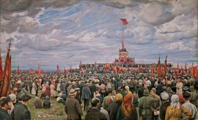 The Passing of a Banner to the Moscow Workers by the Communards on Khodynka Field in Moscow