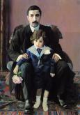 Portrait of Arman Aziber and Son