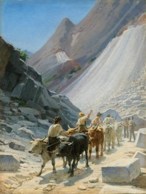 Transportation of Marble in Carrara