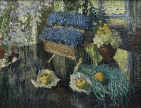 Flowers and Fruits on a Grand Piano