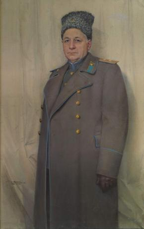 Portrait of the Lieutenant General of Aviation Andrei Tupolev