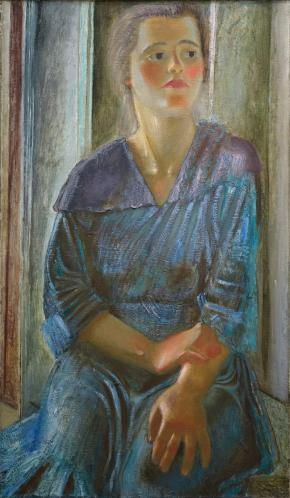 Woman Worker (Portrait in Blue)