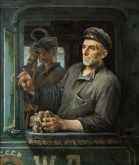 Portrait of the Engine Driver Pavel Fyodorov