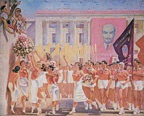 Sergei Kirov Reviews the Athletic Parade