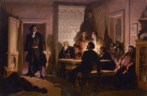 Peter the Great Catching Conspirators in the Act in the House of Ivan Tsykler on 23 February 1697