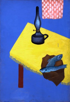 Still Life with a Lamp and Herring