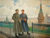 Joseph Stalin and Kliment Voroshilov in the Kremlin