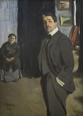 Portrait of Sergei  Diaghilev and his Nanny