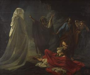 The With of Endor Summoning the Prophet Samuel's Spirit (King Saul  at the Witch of Endor)