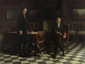 Peter I (the Great) Interrogating Tsarevich Alexei Petrovich in Peterhof