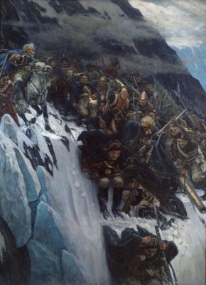 Suvorov Crossing the Alps in 1799